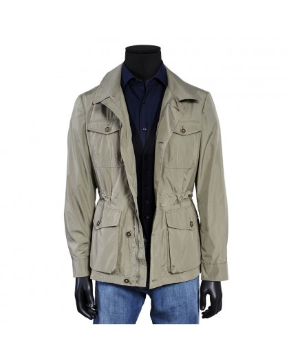 CAMISA INDIGO WASHED BORDADOS PALMERAS